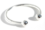 925 sterling silver baby torque ball end bangle + free gift wrap set