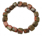 Tumblestone Bracelet Tumblestone Jewellery Green Bracelet Unakite Gemstones