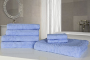 Highams Luxurious 100% Egyptian Cotton 7 Piece Towel Bale 550Gsm Blue