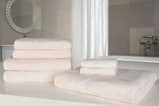 Highams Luxurious 100% Egyptian Cotton 7 Piece Towel Bale 550Gsm Pale Pink