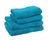 HBS Super Absorbent Supreme 100% Egyptian Cotton Waffle 600gsm 4 Piece Guest Towel Set, Jade