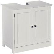 Home Discount Priano Under Sink Bathroom Cabinet Floor Standing Storage Cupboard Basin Unit, White
