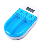 YIJIA Plastic Portable Automatic Electronic Timing Timed Reminder Kit Medicine Box