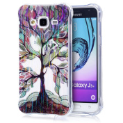 Galaxy J3(2016) Case,Sunroayl Ultra Thin Protective Anti-Shock Bumper Design 3D Pattern Printed Laser Transparent Ultra Fine TPU Hybrid Case Rainbow Gradient Technology Perfect Fit Light Premium Silicone Soft Shell Back for Samsung Galaxy J3(2016) (Not ..