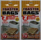 4 Toaster Bag Reusable Plastic Bag Toast Sandwich Non Stick Pizza New Compound