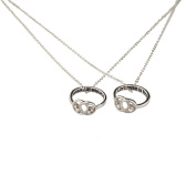 Lux Accessories A Promise Is Forever Infinity Knot BFF Best Friends Matching Ring Necklace Set.