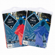 2 Adult Ponchos Lightweight & Waterproof