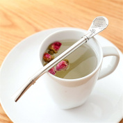 Baffect Multi-function Tea strainer tool mixing straw 3-in-1for summer drinks coffee tea304 stainless steel mixing straw.