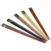 Chopsticks,Clode® 5Pairs Japanese Natural Beech Wood Chopsticks Chinese Set Handmade Gift Pack