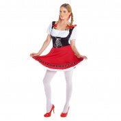 Womens Sexy Dirndl German Lederhosen Oktoberfest Fancy Dress Costume - High Quality Costume