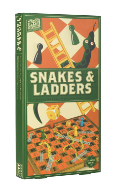 Professor Puzzle WGW1548 Workshop Snakes and Ladders Wooden Games