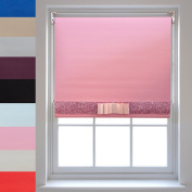 Blackout Roller Blinds + Decorative Glitter Fabric & Bow - Quality Thermal Blind