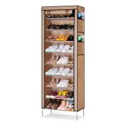 Acorn Fort S201 10 Tiers Shoe Cabinet Tower Storage Organiser Shoe Rack Stand 58 x 28 x 170cm with Oxford Fabric Dustproof Cover Hold Up To 30 Pairs Shoes