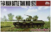 Modelcollect UA72012 Model Kit T 64 Main Battle Tank Mod 1972