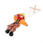 1pcs Wooden Clown Marionette Puppet Toy for Kids