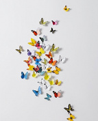 38 PCS 3D Colouful Butterfly Stickers Card Making Stickers Wall Stickers 3D Crafts Butterflies