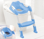 Baby Toddler Potty Training Toilet Ladder Seat Steps Blue