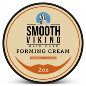 Forming Cream for Men - Hair Styling Cream for High Hold & Matte Finish - Best Pliable Formula for Modern, Classic & Slick Styles - Great for Short, Long & All Other Hair Types - 60ml - Smooth Viking