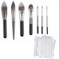 CLOTHOBEAUTY 40 pcs makeup brushes pen guard protector set reusable expandable mesh cover