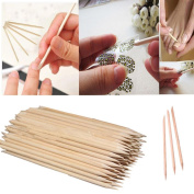 Oyedens Nail Art Orange Wood Stick Cuticle Pusher Remover Pedicure Manicure Care Tool 11cm