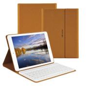 Morecoo iPad Air 1 2 Pro 25cm Keyboard Case Discolour Pu Leather Auto Wake / Sleep Smart Case with Wireless Keyboard