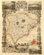Rutlandshire Reproduction Antique Map, Retro Reproduction Rutlandshire Map, Thomas Moule Maps