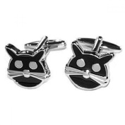 Mens Shirt Accessories - Cat Cufflinks (With Black Presentation Box) - Novelty Animal Theme Jewellery