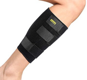 Calf Support,Yosoo Breathable Neoprene Shin Splints Calf Brace Compression Support for Relieving Calf Muscle Pain Torn Calf Strain Injury, Fits Men and Women ,Adjustable .  Strap,Black