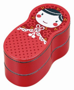"JoliBento Plastic ABS BPA Free ""Matryoshka"" Bento Lunch Boxes, Red"