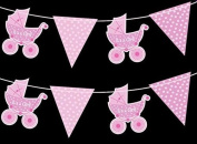 2M IT'S A GIRL Ribbon Bunting by Concept4u