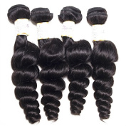 BeautyGrace 9A Peruvian Loose Wave Virgin Hair Human Hair Extensions 4PCS