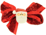 Capelli New York Ladies Bow with Santa Centre Salon Clip Red One Size