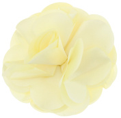 Capelli New York Ladies Solid Fabric Flower Clip Ivory One Size