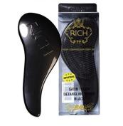 RICH Hair Care Satin Touch Detangling Brush, Black