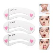 Aisa Eyebrow Stencils Eyebrows Grooming Stencil Kit Shaping Templates DIY Tools Brow Drawing Guide Card