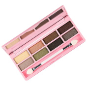 AutumnFall 8 Colours Pro Eyeshadow Shimmer Mate Palette Cosmetic Brush Mirror Makeup Set