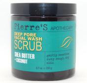 Pierre's Apothecary Deep Pore Facial Wash Scrub Shea Butter & Coconut 200ml