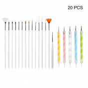 DT 20 Pcs Nail Art DIY Design Beauty Set Dotting Painting Drawing Polish Brush Pen Tools