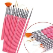 MELADY® Set of 15pcs DIY Nail Art Design Painting Polish Brushes Dotting Drawing Pen Manicure Pedicure Tool Set