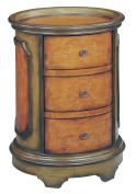 Stein World Furniture Natalie Accent Table, Antique Green, Brown