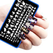 Nail Art!Elevin(TM) Halloween DIY Nail Art Image Stamp Stamping Plates Manicure Template