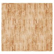Tadpoles 9-Piece Natural Wood Grain Playmat Set, Brown