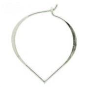 Lotus Petal Sterling Silver Earring Finding Ear Wire Hook 5 Pair