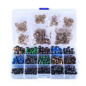 264 Pcs 6~12mm Colourful Safety Eyes Plastic Safety Eyes Plastic Eyes with Washers for Doll, Puppet, Plush Animal