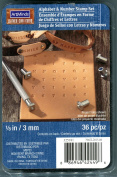 Art Minds Leather Alphabet & Number Stamp Set 1/8 inch - 3mm. 36 Pc