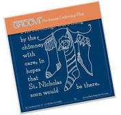 Groovi Twas the Night 02 Stockings - Laser Etched Acrylic for Parchment Craft