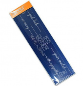 Groovi Messages Line Sentimenr - Laser Etched Acrylic for Parchment Craft