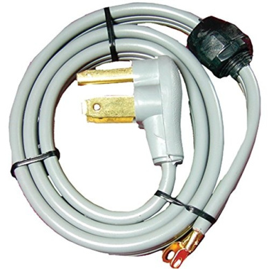CERTIFIED APPLIANCE 90-1020QC 3-Wire Quick-Connect Dryer Cord, 30 Amps, 1.2m (Closed Eyelet)