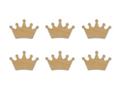 King Crown Cut Out Unfinished Wood Shapes 7.6cm Inch 6 Pieces KC01-06