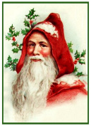Father Christmas Santa Claus 80 Holiday Counted Cross Stitch Pattern